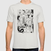 Monsters ink Mens Fitted Tee Silver SMALL