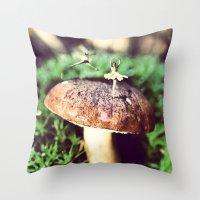 Mushroom Ballet Throw Pillow
