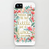 iPhone 5s & iPhone 5 Cases featuring Little & Fierce by Cat Coquillette