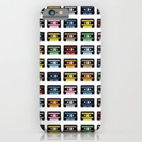 iPhone & iPod Case featuring 80 Rainbow Tapes by Project M