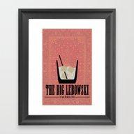 The Big Lebowski. Framed Art Print