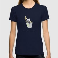 Never Delete Womens Fitted Tee Navy SMALL