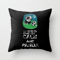 Keep Calm And Panda Throw Pillow