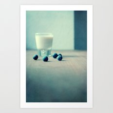 Blue Berry Milk Art Print