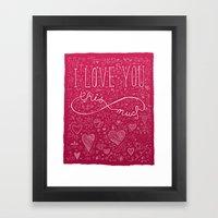 Infinity Valentine Framed Art Print