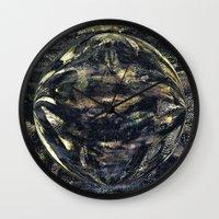 Dark Aluminum Sphere Wall Clock