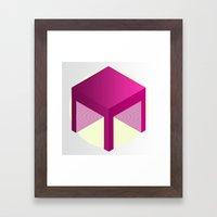 M Cube 1. Framed Art Print