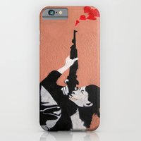 iPhone & iPod Case featuring I LOVE YOUR GUN by grant gay