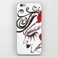 A Flowered Face iPhone & iPod Skin