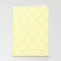 THE SEAS ROLL YELLOW Stationery Cards