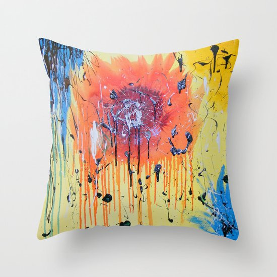Bleeding poppy Throw Pillow