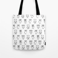 The Dancing Pugs Tote Bag