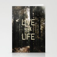 Live The Life Stationery Cards