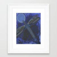 Patchwork Dragonfly Framed Art Print