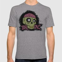BRAAAINZ Mens Fitted Tee Athletic Grey SMALL