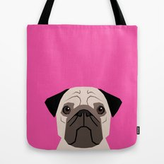 Taylor - Pug dog art phone case for pet lovers and dog people Tote Bag