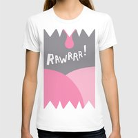 Rawrrr! Womens Fitted Tee White SMALL