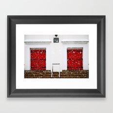 2 doors Framed Art Print