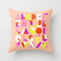 AlphaGeo Poppy Throw Pillow