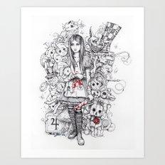 wonderland shattered Art Print