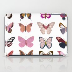 Pink Butterfly Collage iPad Case