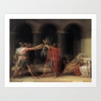 Glitch of the Horatii Art Print