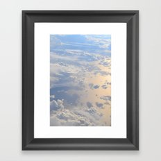 The Clouds Below Framed Art Print