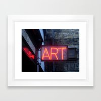 Neon Art Framed Art Print