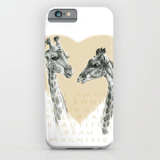 Giraffes love G055bis iPhone & iPod Case