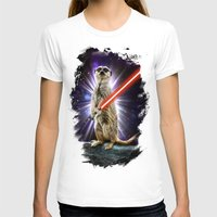 Meerkat Womens Fitted Tee White SMALL