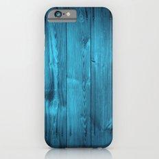 Blue Wood Planks Slim Case iPhone 6s