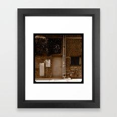 Electrical room. Framed Art Print