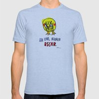AN OWL NAMED OSCAR Mens Fitted Tee Athletic Blue SMALL
