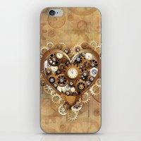 Steampunk Heart Love iPhone & iPod Skin