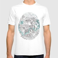 Victorian London Mens Fitted Tee White SMALL