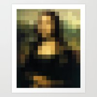 PIXELEON-Monalisa Art Print