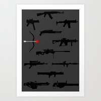 Deadly Weapons Art Print