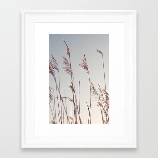 winter dies... Framed Art Print