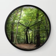 Wall Clock featuring  Forest Path In October by Art-Motiva