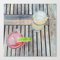 Summer Drinks Canvas Print