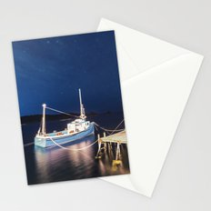 Moored in the Night Stationery Cards