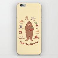 Bigfoot Eats Gluten Free iPhone & iPod Skin