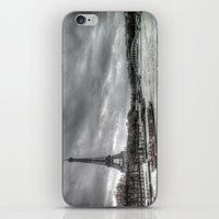 The Eiffel Tower and the Seine - Paris cityscape - hdr iPhone & iPod Skin