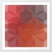Geometric Flower  Art Print