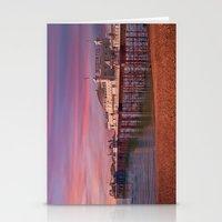 Brighton Pier Sunrise Stationery Cards