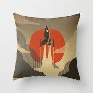 The Voyage (Grey) Throw Pillow