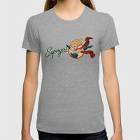 Supergirl Bombshell Womens Fitted Tee Tri-Grey SMALL