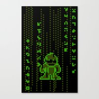 The Pixel Matrix Canvas Print