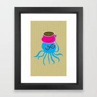 Hipster Octopus 2016 Framed Art Print