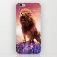 Roaring Space Lion iPhone & iPod Skin